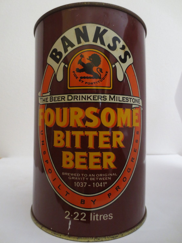 BANKS´S FOURSOME BITTER BEER (222cl) Nr.1