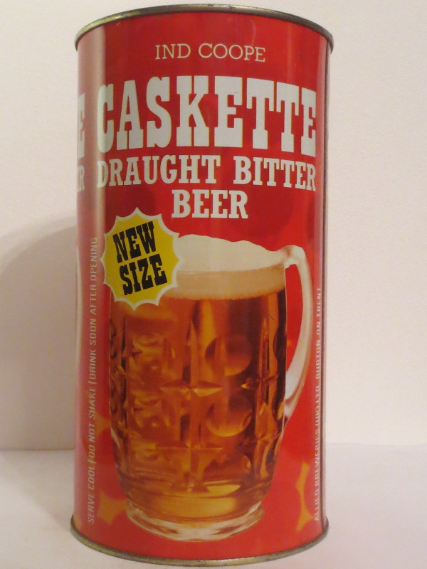 IND COOPE CASKETTE DRAUGHT BITTER BEER NEW SIZE (278cl)