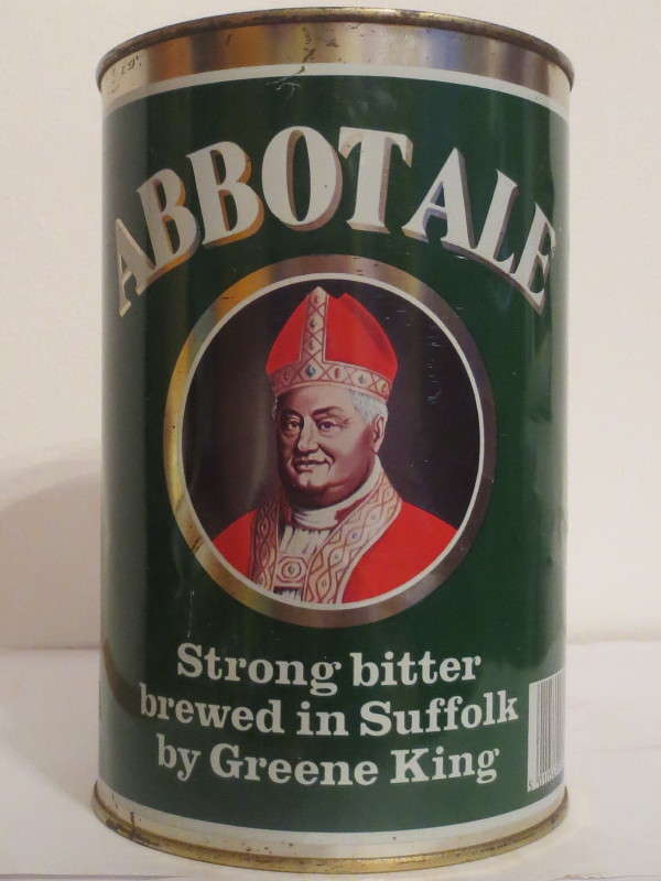 ABBOTALE strong bitter brewed in Suffolk by Greene King (222cl) Nr.1
