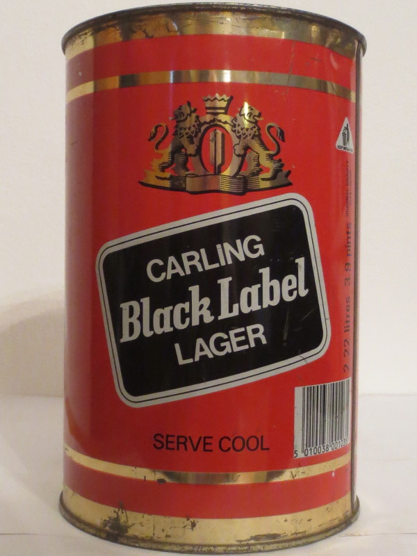 CARLING Black Label LAGER SERVE COOL (222cl) Nr.1