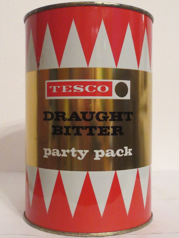 TESCO DRAUGHT BITTER party pack (221cl)